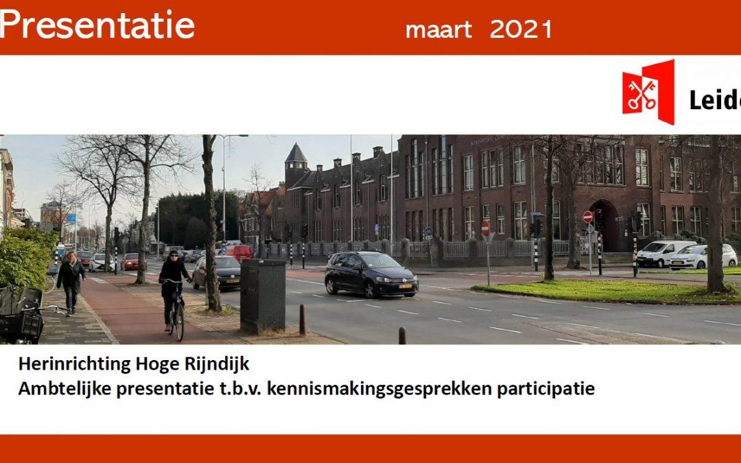 Verslag m.b.t. herinrichting Hoge Rijndijk